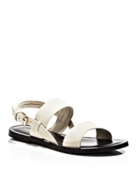 Emozioni Open Toe Flat Sandals Ivory