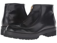 Marni Brushed Leather Zip Up Boot Black Men's Zip Boots