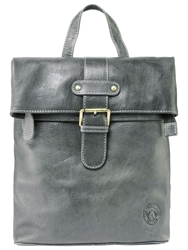 Tog 24 Oakley Leather Holdall Dark Grey