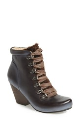 Women's Otbt 'Ritchee' Hiking Bootie Dark Brown Leather