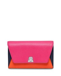 Akris Anouk Leather Chain Envelope Clutch Bag Zinnia Ros