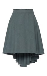 J.W.Anderson J.W. Anderson Cotton Canvas Mullet Skirt Dark Grey
