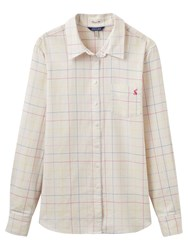 Joules Lucie Semi Fitted Check Shirt Cream Multi
