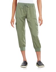 Marc New York Cargo Cropped Pants Pale Olive