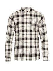A.P.C. Cobif Plaid Cotton And Linen Blend Shirt White Multi