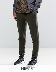 Asos Super Skinny Joggers In Khaki Forest Night Green