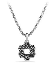 David Yurman Modern Chevron Star Of Pendant Necklace Silver