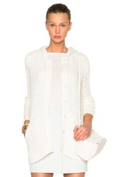 Atm Anthony Thomas Melillo Oversize Hooded Sweater Coat In Neutrals