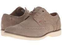 Hush Puppies Fowler Ez Dress Taupe Suede Men's Lace Up Wing Tip Shoes