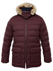 Ted Baker Norway Down Filled Parka Jacket Red