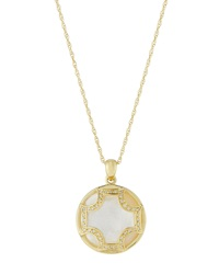Elizabeth Showers Maltese Mother Of Pearl And Diamond Pendant Necklace