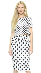 Saloni Marie Crop Top Small Polka Dot