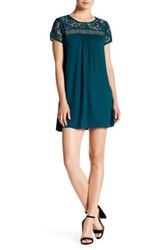 Trixxi Solid Lace Sheath Dress Green