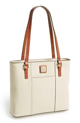 Dooney And Bourke 'Small Lexington Pebble Grain Collection' Water Resistant Leather Shopper White Bone