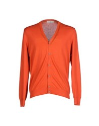 Della Ciana Knitwear Cardigans Men Orange