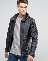Pretty Green Jacket With Hood Showerproof In Slim Fit Black Black