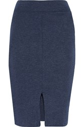 Lna Harley Modal Blend Mini Skirt Blue