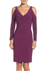 Adrianna Papell Women's Cold Shoulder Banded Sheath Dress