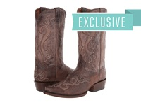 Dan Post Barkley Chocolate Rustic Cowboy Boots Brown