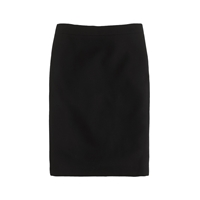 J.Crew Petite No. 2 Pencil Skirt In Double Serge Wool Black