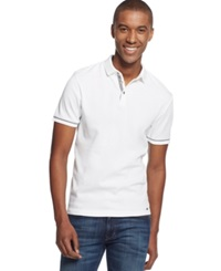 Inc International Concepts Mack Polo White Pure