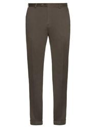 Brioni Montana Slim Leg Cotton Blend Chino Trousers Grey