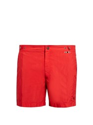 Danward Mid Length Swim Shorts Red
