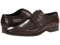 Messico Cristiano Brown Leather Men's Dress Flat Shoes