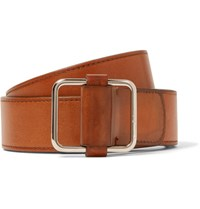 Berluti 4Cm Brown Lorenzo Leather Belt Tan