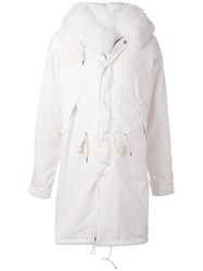 Liska Hooded Mid Coat White