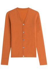 Lucien Pellat Finet Cashmere Cardigan Orange