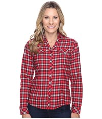 Columbia Simply Put Ii Flannel Shirt Chianti Check Women's Long Sleeve Button Up Red