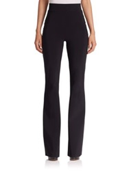 La Petite Robe Di Chiara Boni Stretch Jersey Flared High Waist Pants Black