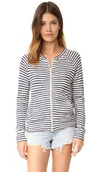 The Lady And The Sailor Varsity Zip Up Denim Stripe