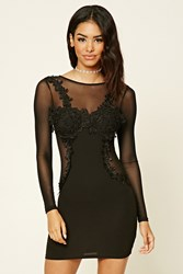 Forever 21 Embroidered Bodycon Dress