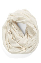 Women's Bcbgeneration Speckled Knit Infinity Scarf Ivory
