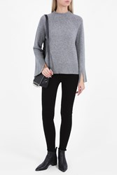 Theory Chunky Cashmere Polo Neck Grey
