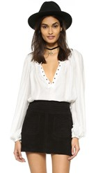 Free People Against All Odds Top Ivory Combo