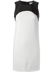 Michael Michael Kors Studded Panel Shift Dress White