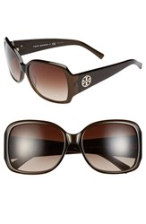 Women's Tory Burch 58Mm Oversized Square Sunglasses Olive