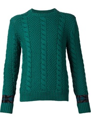Umit Benan Cable Knit Sweater Green
