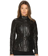 Belstaff Triumph 2.0 Signature Hand Waxed Leather Jacket Black Women's Coat