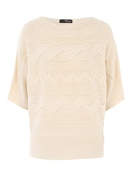 Jane Norman Batwing Cable Jumper Ivory