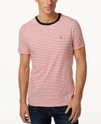 Tommy Hilfiger Men's Big And Tall Marvin Short Sleeve T Shirt Apple Red