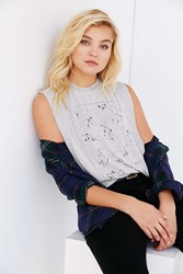 Truly Madly Deeply Constellations Muscle Tee Grey