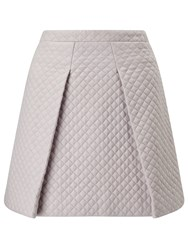 St Studio Quilted Skater Skirt Pebble Grey