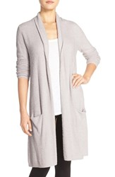 Women's Barefoot Dreams Long Cardigan Grey