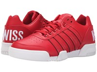 K Swiss Gstaad Big Logo Ribbon Red White Leather Men's Shoes