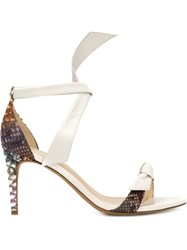 Alexandre Birman Stiletto Sandal White