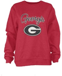 Pressbox Women's Georgia Bulldogs Pigment Dye Fleece Sweatshirt Red